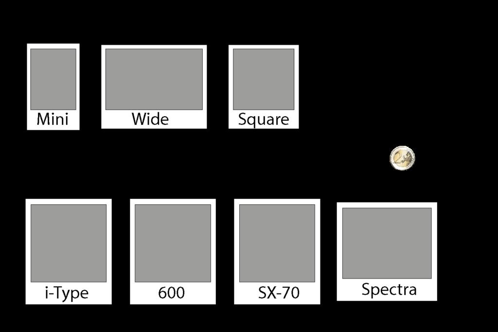 Sofortbild Größenvergleich